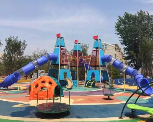 小区儿童游乐设施组合滑梯