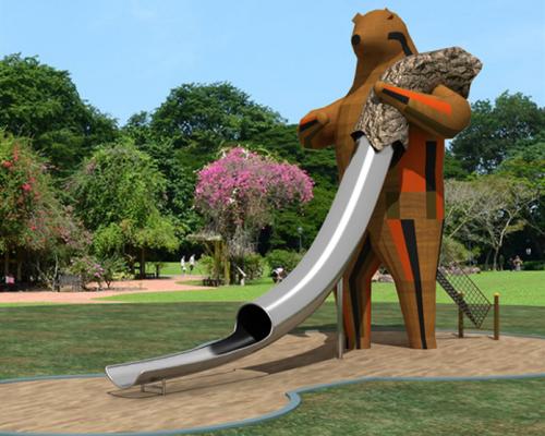 非标定制儿童树屋不锈钢组合滑梯